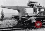 Image of French 320mm Railway Gun Western Front European Theater, 1918, second 3 stock footage video 65675040041