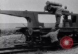 Image of French 320mm Railway Gun Western Front European Theater, 1918, second 4 stock footage video 65675040041