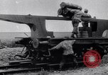 Image of French 320mm Railway Gun Western Front European Theater, 1918, second 5 stock footage video 65675040041