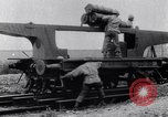 Image of French 320mm Railway Gun Western Front European Theater, 1918, second 6 stock footage video 65675040041