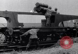 Image of French 320mm Railway Gun Western Front European Theater, 1918, second 7 stock footage video 65675040041