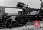 Image of French 320mm Railway Gun Western Front European Theater, 1918, second 8 stock footage video 65675040041
