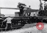 Image of French 320mm Railway Gun Western Front European Theater, 1918, second 9 stock footage video 65675040041