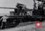 Image of French 320mm Railway Gun Western Front European Theater, 1918, second 10 stock footage video 65675040041