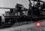 Image of French 320mm Railway Gun Western Front European Theater, 1918, second 11 stock footage video 65675040041