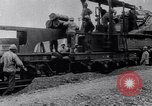 Image of French 320mm Railway Gun Western Front European Theater, 1918, second 12 stock footage video 65675040041