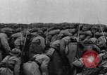 Image of French troops charge from trench World War 1 Western Front European Theater, 1918, second 3 stock footage video 65675040043