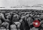 Image of French troops charge from trench World War 1 Western Front European Theater, 1918, second 4 stock footage video 65675040043