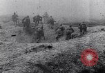 Image of French troops charge from trench World War 1 Western Front European Theater, 1918, second 12 stock footage video 65675040043