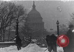 Image of Shoveling and playing in snow Washington DC USA, 1923, second 1 stock footage video 65675040078