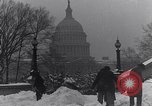 Image of Shoveling and playing in snow Washington DC USA, 1923, second 2 stock footage video 65675040078