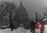 Image of Shoveling and playing in snow Washington DC USA, 1923, second 3 stock footage video 65675040078