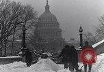 Image of Shoveling and playing in snow Washington DC USA, 1923, second 9 stock footage video 65675040078