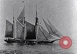 Image of 3-masted schooner sunk by U-boat Atlantic Ocean, 1916, second 2 stock footage video 65675040086