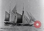 Image of 3-masted schooner sunk by U-boat Atlantic Ocean, 1916, second 4 stock footage video 65675040086