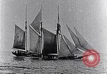 Image of 3-masted schooner sunk by U-boat Atlantic Ocean, 1916, second 5 stock footage video 65675040086