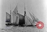 Image of 3-masted schooner sunk by U-boat Atlantic Ocean, 1916, second 8 stock footage video 65675040086