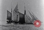 Image of 3-masted schooner sunk by U-boat Atlantic Ocean, 1916, second 10 stock footage video 65675040086