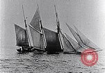 Image of 3-masted schooner sunk by U-boat Atlantic Ocean, 1916, second 12 stock footage video 65675040086