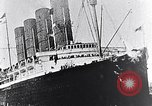 Image of Liner Lusitania leaving New York Atlantic Ocean, 1915, second 4 stock footage video 65675040087