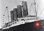 Image of Liner Lusitania leaving New York Atlantic Ocean, 1915, second 5 stock footage video 65675040087