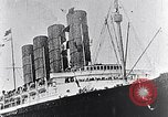 Image of Liner Lusitania leaving New York Atlantic Ocean, 1915, second 6 stock footage video 65675040087