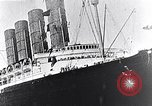 Image of Liner Lusitania leaving New York Atlantic Ocean, 1915, second 8 stock footage video 65675040087