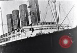 Image of Liner Lusitania leaving New York Atlantic Ocean, 1915, second 9 stock footage video 65675040087