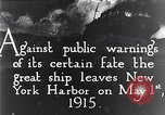 Image of Liner Lusitania leaving New York Atlantic Ocean, 1915, second 12 stock footage video 65675040087