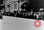 Image of civilians greet Austro-Hungarian officers Lemberg Ukraine, 1915, second 6 stock footage video 65675040091