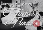 Image of fashion parade New York United States USA, 1957, second 1 stock footage video 65675040127