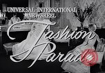 Image of fashion parade New York United States USA, 1957, second 2 stock footage video 65675040127