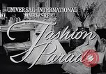 Image of fashion parade New York United States USA, 1957, second 4 stock footage video 65675040127