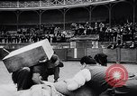 Image of Basque country stone lifting competition Spain., 1957, second 8 stock footage video 65675040128
