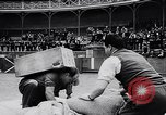 Image of Basque country stone lifting competition Spain., 1957, second 9 stock footage video 65675040128