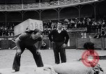 Image of Basque country stone lifting competition Spain., 1957, second 11 stock footage video 65675040128