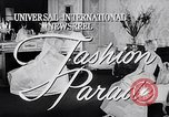 Image of fashion parade New York United States USA, 1957, second 1 stock footage video 65675040134
