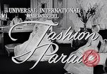 Image of fashion parade New York United States USA, 1957, second 2 stock footage video 65675040134