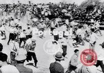 Image of bull fighting Alcochete Portugal, 1953, second 1 stock footage video 65675040157