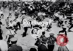 Image of bull fighting Alcochete Portugal, 1953, second 2 stock footage video 65675040157