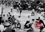 Image of bull fighting Alcochete Portugal, 1953, second 3 stock footage video 65675040157