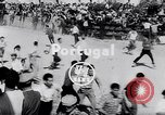 Image of bull fighting Alcochete Portugal, 1953, second 4 stock footage video 65675040157