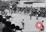 Image of bull fighting Alcochete Portugal, 1953, second 5 stock footage video 65675040157