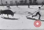 Image of bull fighting Alcochete Portugal, 1953, second 6 stock footage video 65675040157