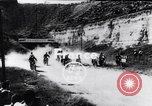 Image of bikers Paris France, 1953, second 1 stock footage video 65675040166