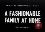 Image of 1950s American family fashions United States USA, 1954, second 1 stock footage video 65675040177