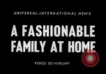 Image of 1950s American family fashions United States USA, 1954, second 3 stock footage video 65675040177