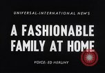 Image of 1950s American family fashions United States USA, 1954, second 4 stock footage video 65675040177