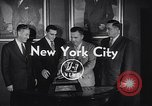 Image of Alan Ameche receives Heisman Trophy New York United States USA, 1954, second 5 stock footage video 65675040178