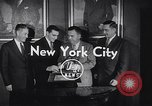 Image of Alan Ameche receives Heisman Trophy New York United States USA, 1954, second 6 stock footage video 65675040178